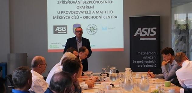 Česká pobočka ASIS INTERNATIONAL pořádala kulatý stůl na téma bezpečnostních opatření obchodních center
