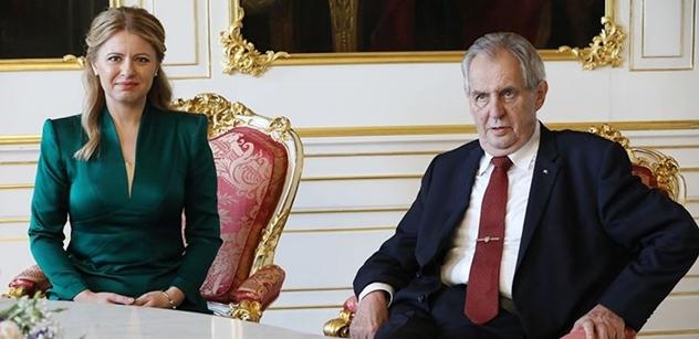 Zeman s Čaputovou v Bratislavě. Došlo k posílení vzájemného pouta obou zemí