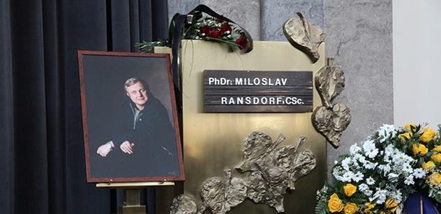 Vlasta Ransdorfová: Celé znění smuteční řeči na pohřbu
