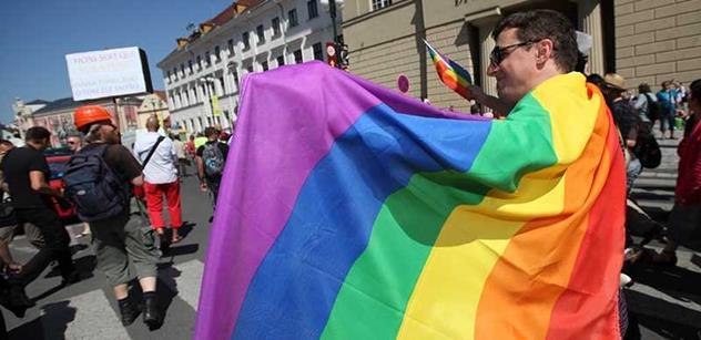 Prahou prošel průvod hrdosti. Putin a Putna vedli průvod homosexuálů