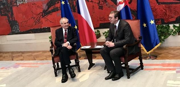 Prezident Zeman končí státní návštěvu Srbska