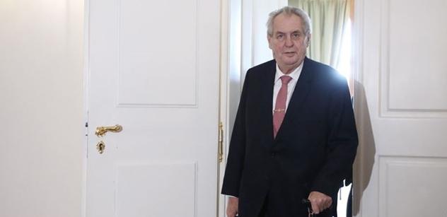 Strach z Miloše Zemana: Prezident může brzy zasadit mocný úder