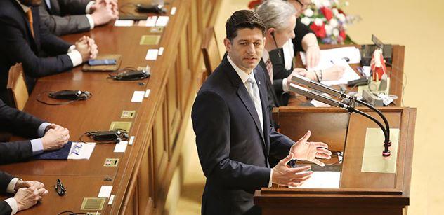 Paul Ryan ve Sněmovně: Rusko nesdílí naše hodnoty ani naše zájmy. Jestli je tu něco, o co se snaží, tak se snaží hodnoty podkopat