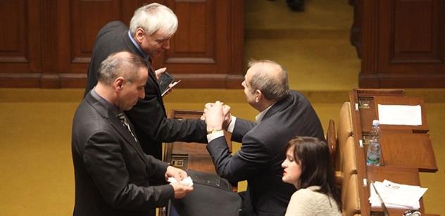 Pokračujme v debatě v dubnu 2019, navrhl ve sněmovně Laudát. A Hamáček pravil...