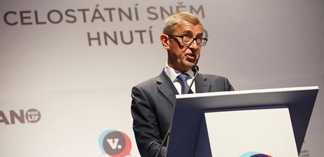 Babiš obhájil funkci předsedy ANO. Nechápu, proč se novináři pořád ptají, že nemám vyzyvatele, divil se