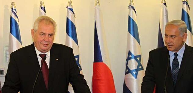 Česká republika je nejlepším přítelem Izraele na východní polokouli, oznámil Netanjahu vedle Zemana
