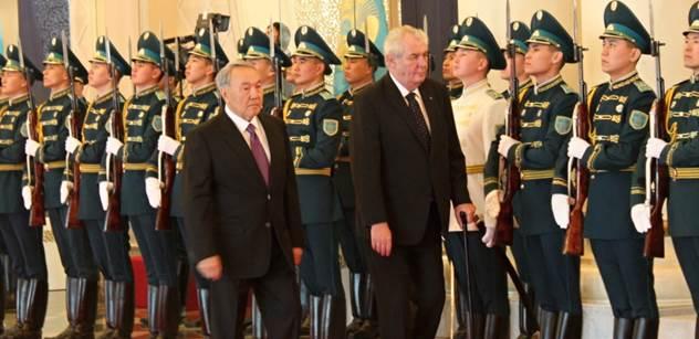 Zeman dnes označil Kazachstán za zemi hospodářského zázraku