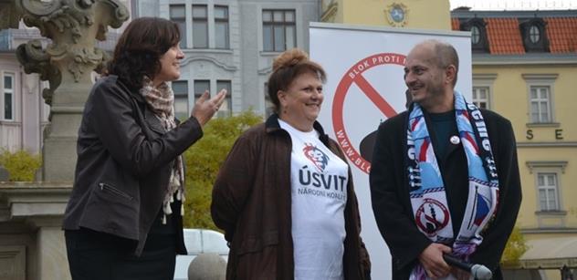 Poslankyně Havlová na Konvičkově akce proti islámu: Babiš je na veřejnosti proti imigraci, ale když dojde na zákon...