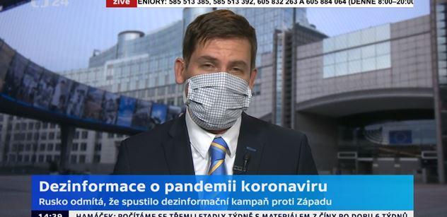 ČT referuje z Bruselu: Ruská propaganda řádí kolem korony. Metody kremelských webů, jak je známe