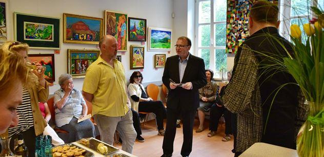 Praha 5: Výstava malíře Romana Nováka v Komunitním centru Prádelna