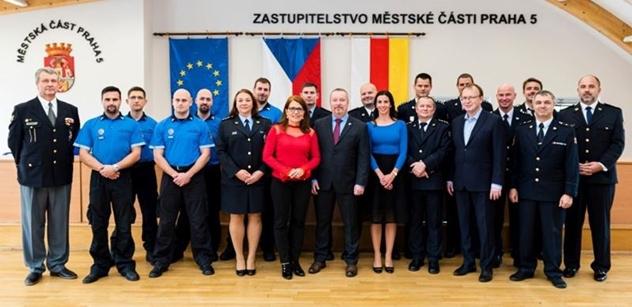 Městská část Praha 5: Vyznamenání příslušníků ozbrojených složek