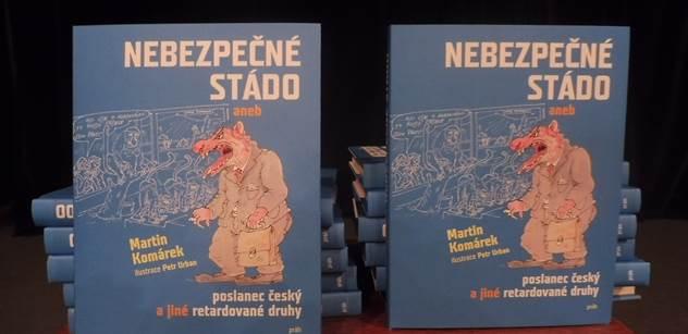 Asi mu Dalík napsal moták. Martin Komárek bavil publikum řečmi o Topolánkovi a vzpomenul, co slyšel před volbami o ČSSD