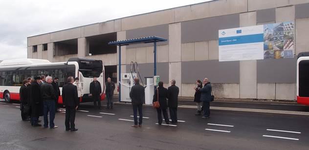 Městský dopravní podnik Opava má novou rychlou plničku CNG
