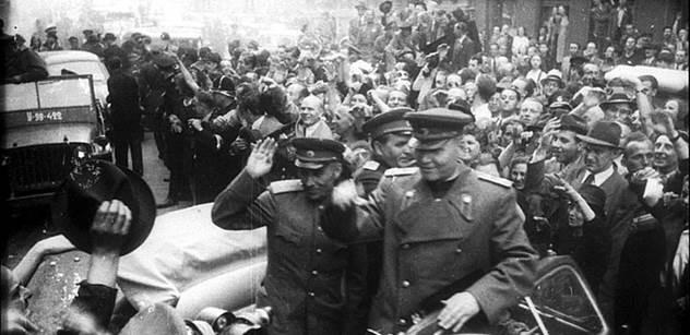 Sochu ruského maršála Koněva dnes čistilo několik lidí