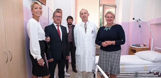 Soukromá klinika vybavila nadstandardní pokoje pro onkologické pacienty v Nemocnici Na Bulovce