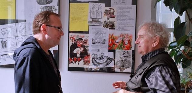 Praha 5: Výstava malíře Ladislava Hojného Jó ty paměti v Komunitním centru Prádelna