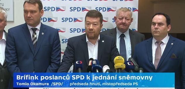 Okamura (SPD): Když se chce, všechno jde. I přímá demokracie