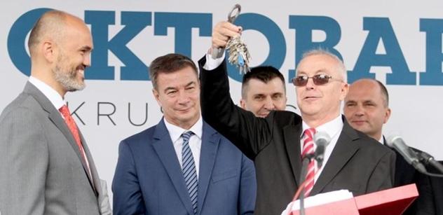 Holding CZECHOSLOVAK GROUP slavnostně převzal významnou srbskou strojírenskou společnost IMK 14. Oktobar