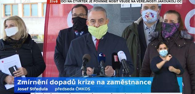 Ve stavu nouze zakázat odtékání dividend z Česka, bouchl v ČT do stolu Středula. Rusnok zasáhl