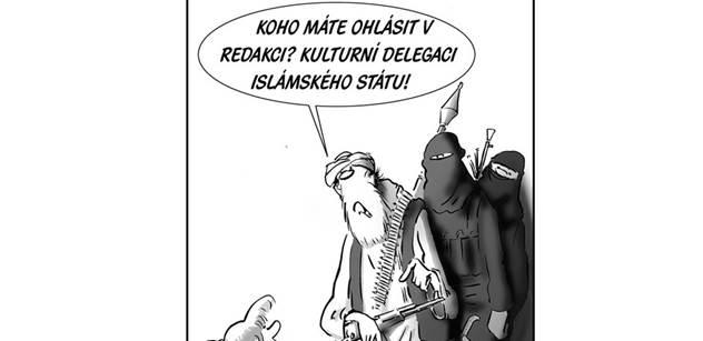 Šéf unie karikaturistů o smíšených pocitech z vraždění v Charlie Hebdo a srandě pro blbečky
