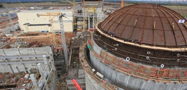 Rosatom: Betonování kupole kontejnmentu 2. bloku Ostrověcké JE bylo dokončeno