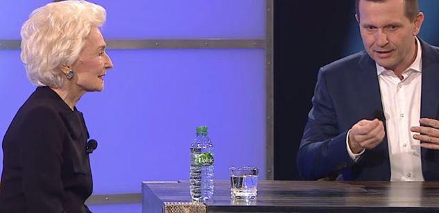 """Eliška Hašková-Coolidge u Soukupa srovnala """"lepší"""" Čechy, kteří chtěli Drahoše. A řekla, co se jí líbí na Zemanovi"""