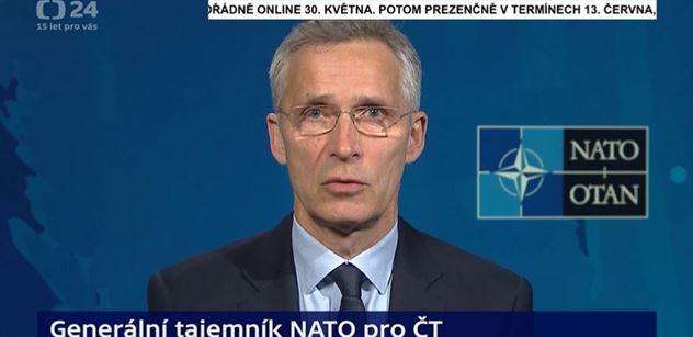 Kolář a Novotný mají podporu v NATO. Stoltenberg v ČT rázně varoval Rusy. Je nutné silně reagovat, padlo