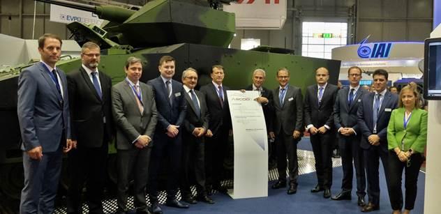 GDELS podepsala dohodu s pěti českými podniky v souvislosti s výběrovým řízením na nová pásová obrněná vozidla