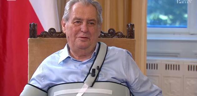 Když se spojí několik trpaslíků, nevznikne z nich obr, varuje prezident Zeman. Pak přidal nezdvořilý vtip o Senátu