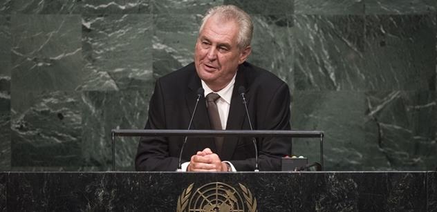 Projev prezidenta Miloše Zemana v OSN