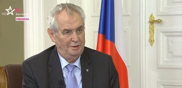 Zeman zesměšnil Vladimíra Špidlu a vyjádřil se ke Kajínkovi