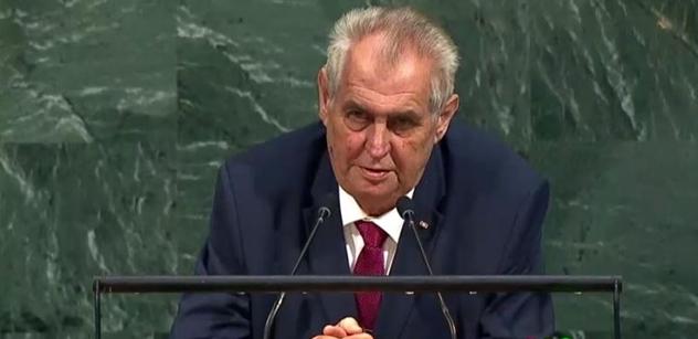 Prezident Zeman v OSN: Kdo podporuje migraci, oslabuje země v Africe a na Blízkém východě