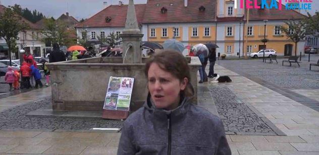 VIDEO Tam, kde Babiše volil každý třetí, udělala fanynka Chvilek pro demokracii demonstraci. Takhle dopadla