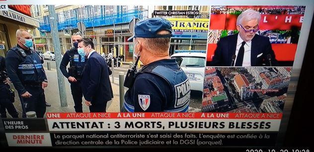 Přímo při mši! Teror ve Francii: Tři lidé mrtví, útočník postřelen