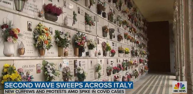 Itálie znovu na kolenou. Téměř 30 tisíc nakažených za den, stovky mrtvých