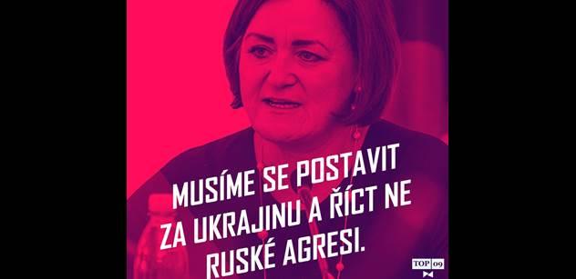 Poslankyně topky na Facebooku srdnatě bránila Ukrajinu proti Rusku. Až přišel Václav V., kterému stačilo 33 slov. A bylo ticho