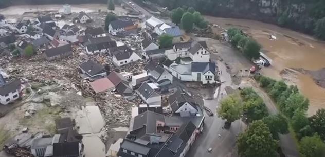 Utrpení nebere konce. Záplavy a bouře v Německu udeřily nebývalou silou