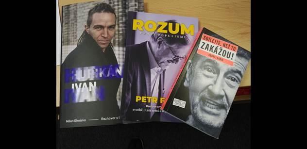 Knihy předsedů ODS i Pirátů nepůsobí moc dobře. Tmavé fotky, nudnější pasáže