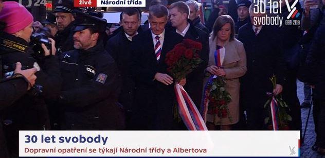 Řev na Babiše, nadávky, strkanice, policie. Premiér šel položit květiny, ale... VIDEO, co se semlelo...