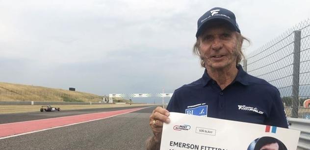 Emerson Fittipaldi si vyzkoušel mostecký okruh, legenda se zajímala i o anketu Zlatý volant
