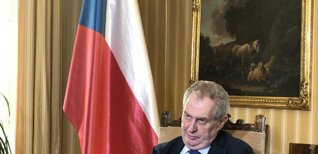Prezident Zeman: Nevšímejte si poštěkávání a vřeštění našich novinářských komentátorů