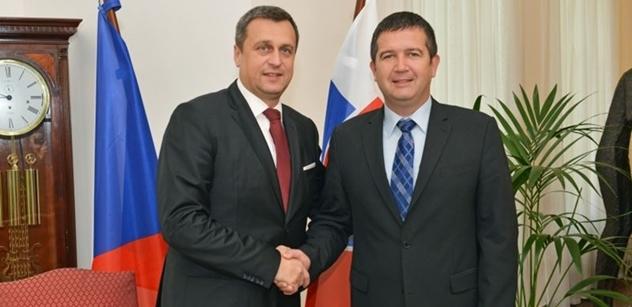 Předseda Poslanecké sněmovny Jan Hamáček se setkal s předsedou Národní rady SR