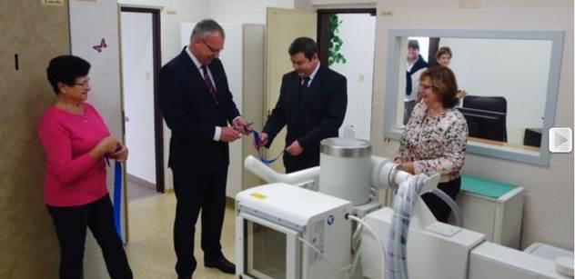 Klášterec nad Ohří: Nový rentgen slavnostně předán veřejnosti