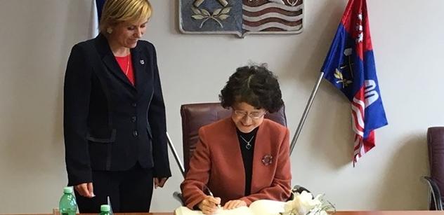 Karlovarský kraj navštívila delegace v čele s velvyslankyní Čínské lidové republiky