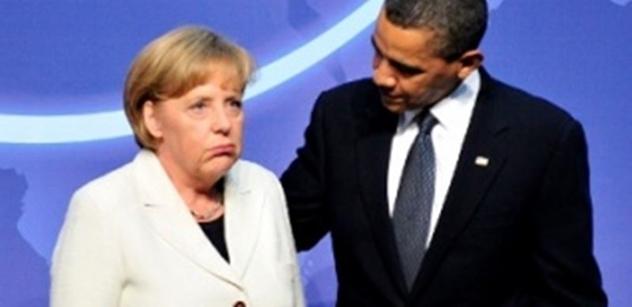 Obama se loučil s Merkelovou. Ta děkovala za pomoc jeho tajným službám