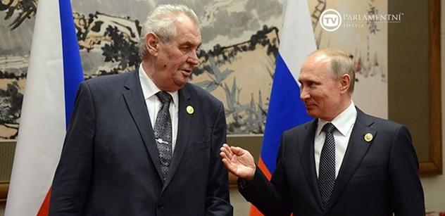 VIDEO Setkání Zemana s Putinem