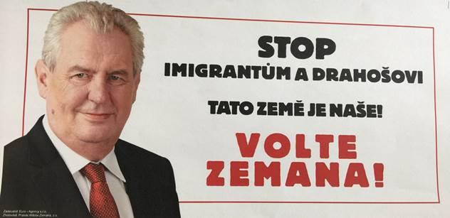 Peklo kolem Zemanovy akce proti Drahošovi. Zemanovci křepčí radostí. Hádka kvůli migrantům a sranda kolem ženy, která nahradí Moravce. Vše jede naplno