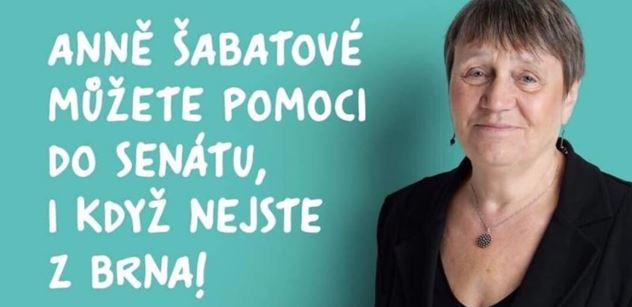 Kdo v Brně má duši, volí Annu Šabatovou, nabádá Patočkův web. I Václav Havel ji za mlada obdivoval...
