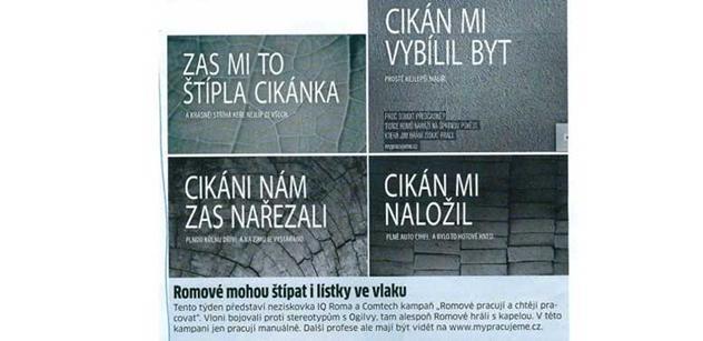 Cikán mi vybílil byt, přečetl si Jiří Čunek na plakátu a zhrozil se