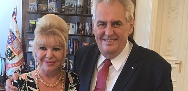 FOTO Prezident Zeman přijal dámu, která nás proslavila po celém světě